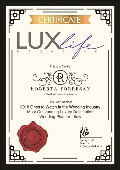 Most Outstanding Luxury Destination Wedding Planner in Italy
