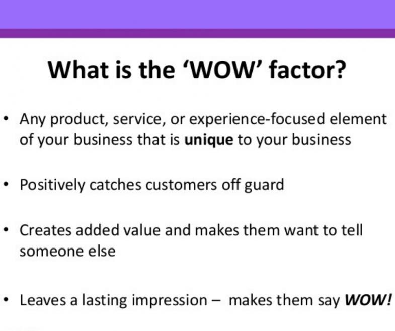 Il tuo vero WOW Factor