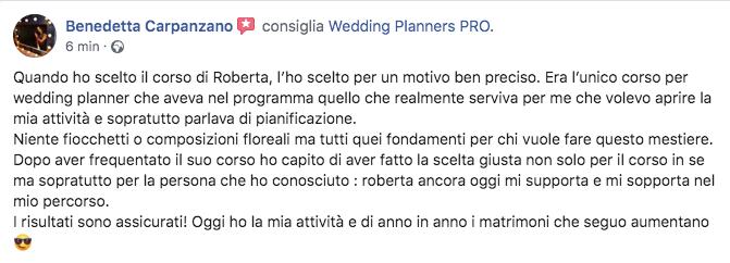recensione corso wedding planner