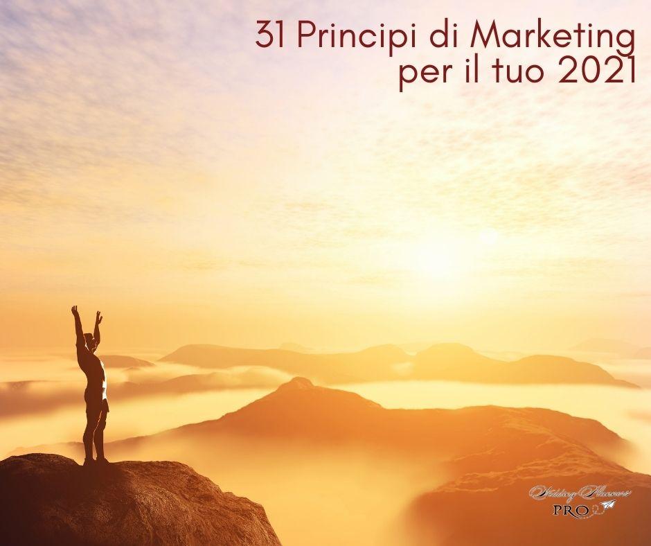 31 Principi di Marketing per il tuo 2021